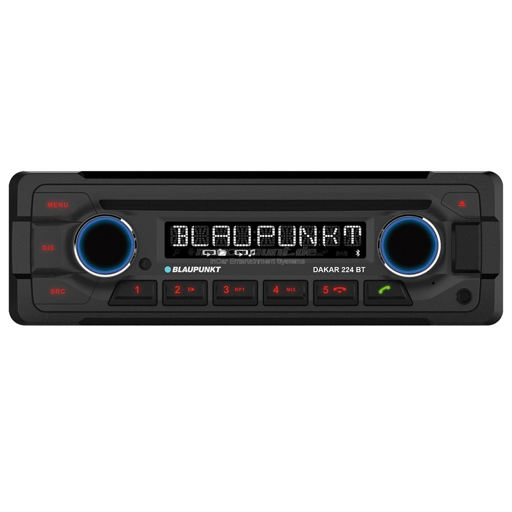 Blaupunkt DAKAR 224 BT 1DIN Heavy Duty with Bluetooth + CD (24V)